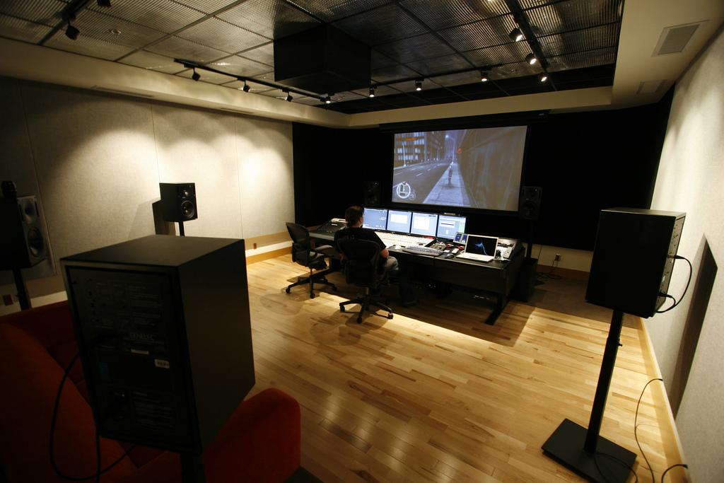 Rob Bridgett at Radical Entertainment 7.1 Sound Studio