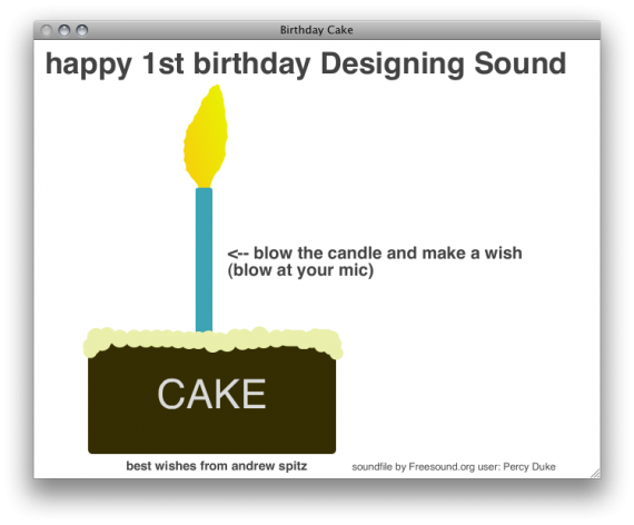 Designing Sound has its Own Virtual Birthday Cake