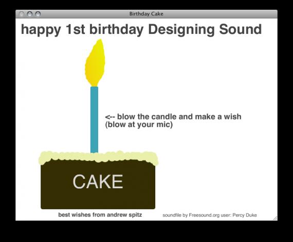 Virtual Cake Design Program : Designing Sound has its Own Virtual Birthday Cake!