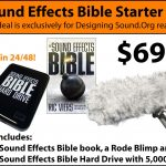 Reminder: Final Week for the Sound Effects Bible Starter Kit Special Deal