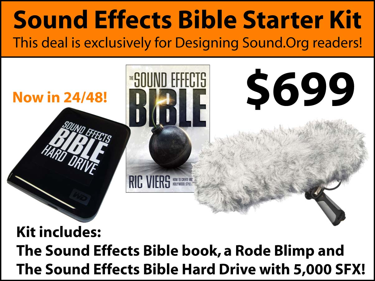 Reminder: Final Week for the Sound Effects Bible Starter Kit