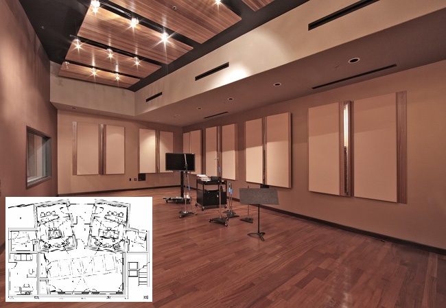 Photo of the live room where I work. Designed by the Walters-Storyk Design Group