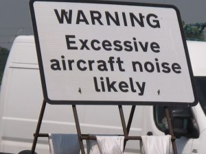 """Excessive aircraft noise"" warning, A40 by RAF Northolt (David Hawgood) / CC BY-SA 2.0"