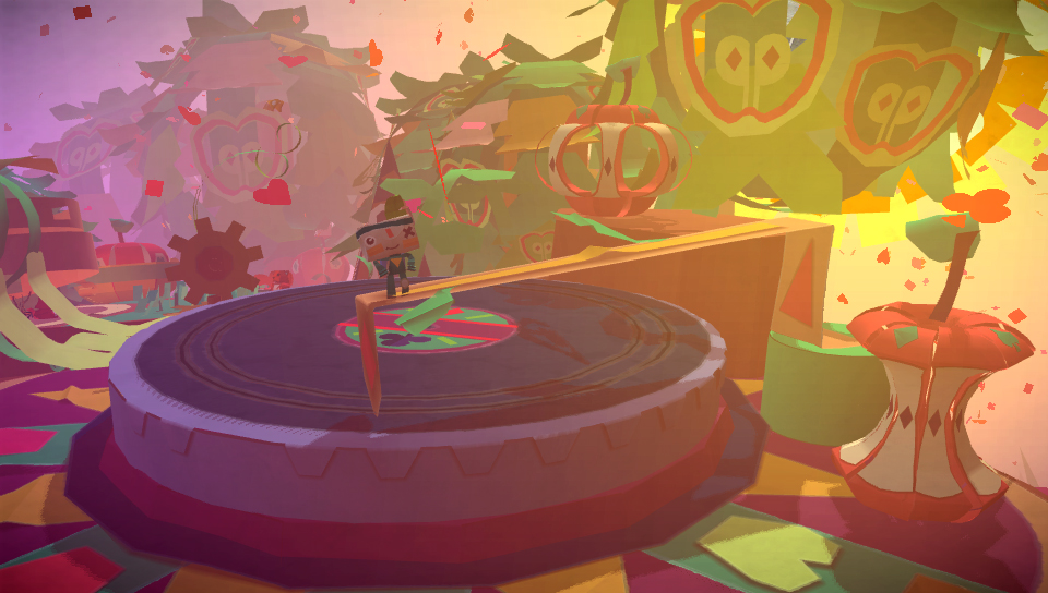 A record deck in Tearaway