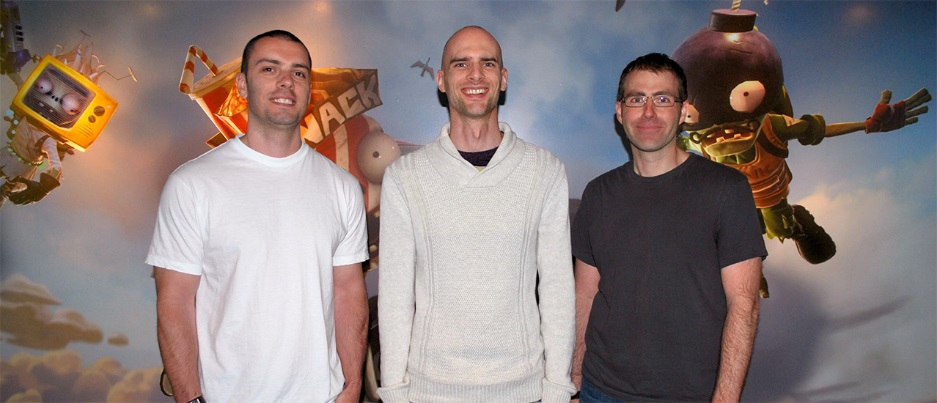From left to right, Anton Crnkovic, Rob Blake and Mike Berg.