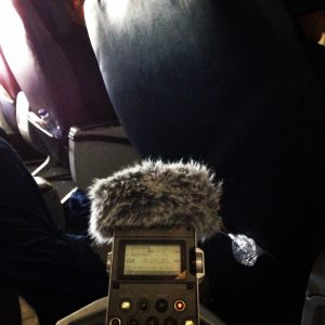 Listening on an airplane (find unique locations to practice).
