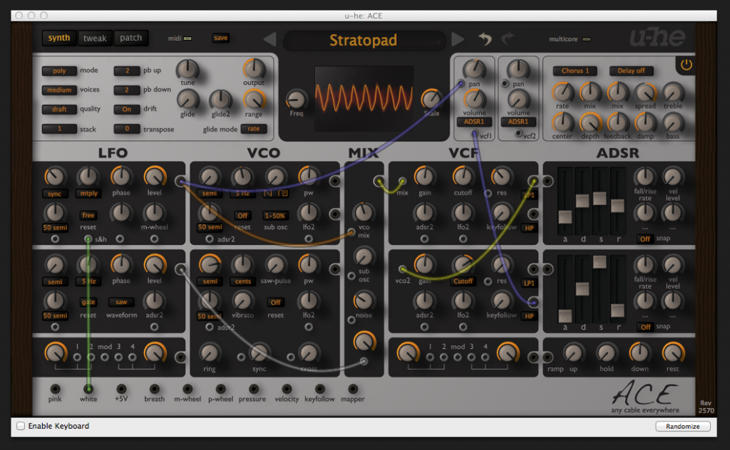 The versatile ACE synth from u-he.