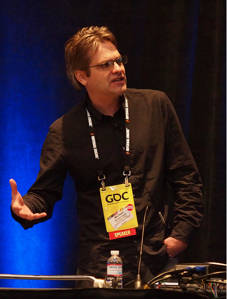 Michael Sweet presenting at GDC