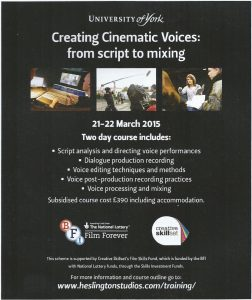 Creating cinematic voices (York)