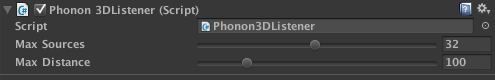 Phono 3D UI screenshot