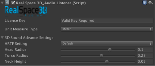 RealSpace 3D Audio UI screenshot