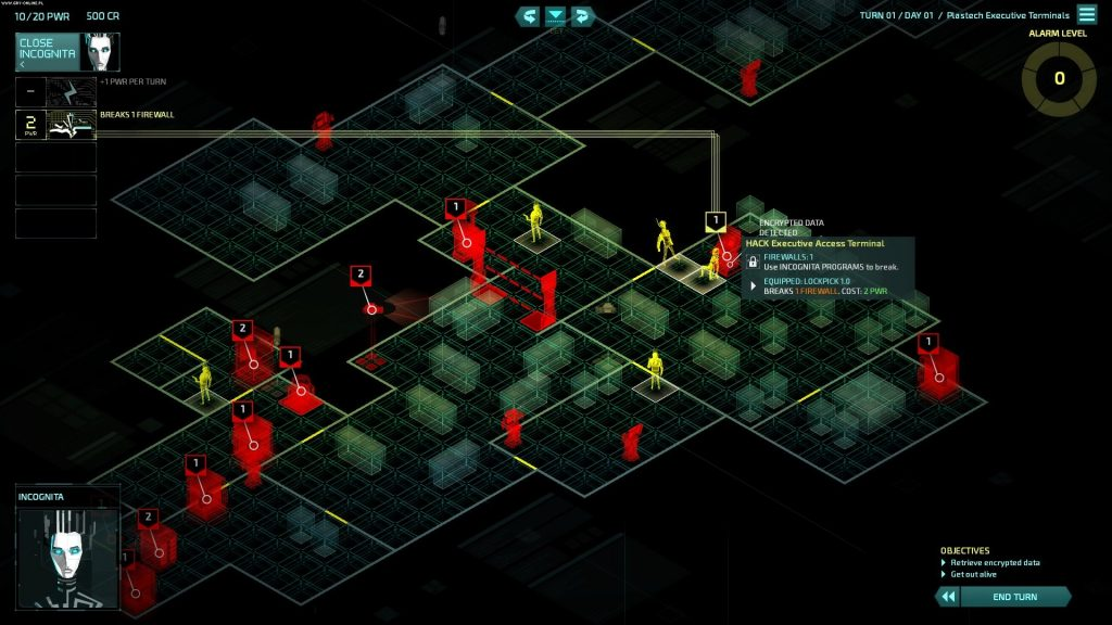 Invisible Inc mainframe view