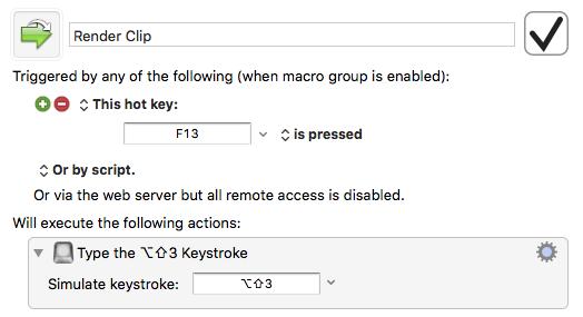 macro render clip