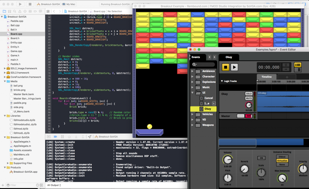 To mod this game you will need your Xcode project and the FMOD Studio project