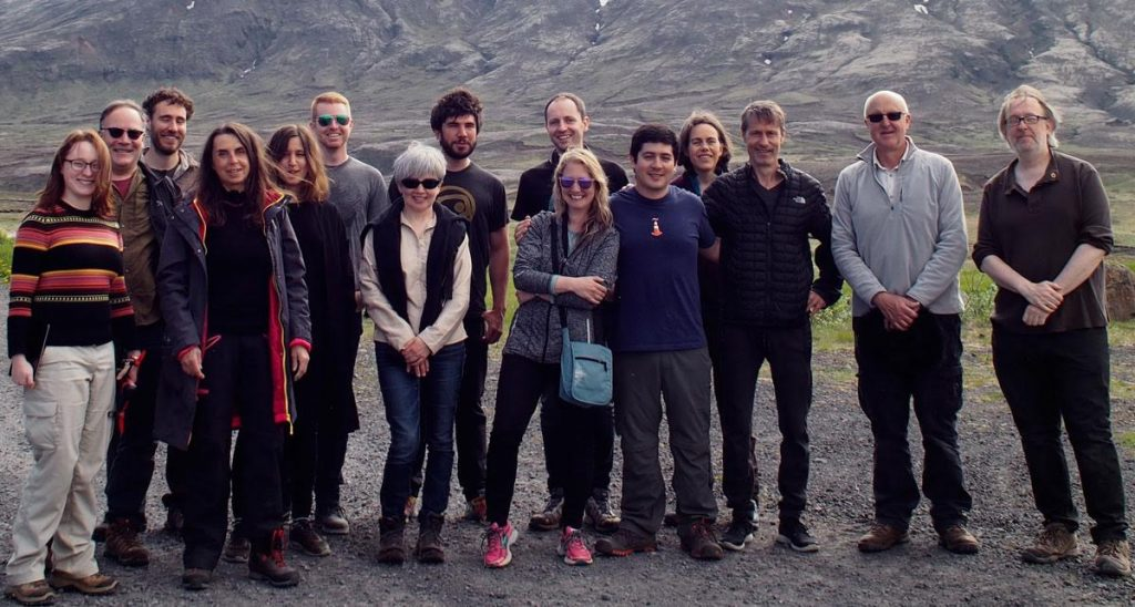 The Wildeye Sound Recording in Iceland class of 2016 stands for a group photo.