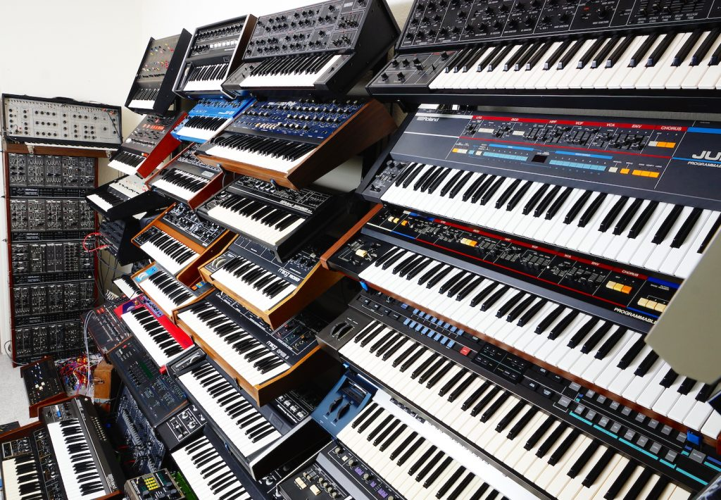 Just a few of the synths from Nathan Brenholdt's studio
