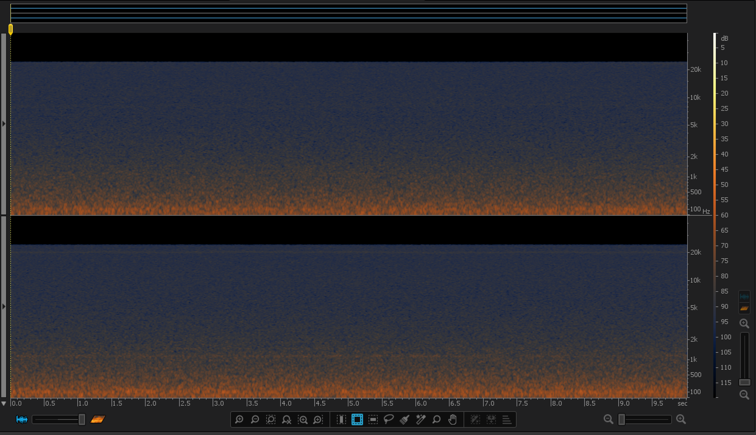 H2n Noise Spectrogram (Source: iZotope RX 4)