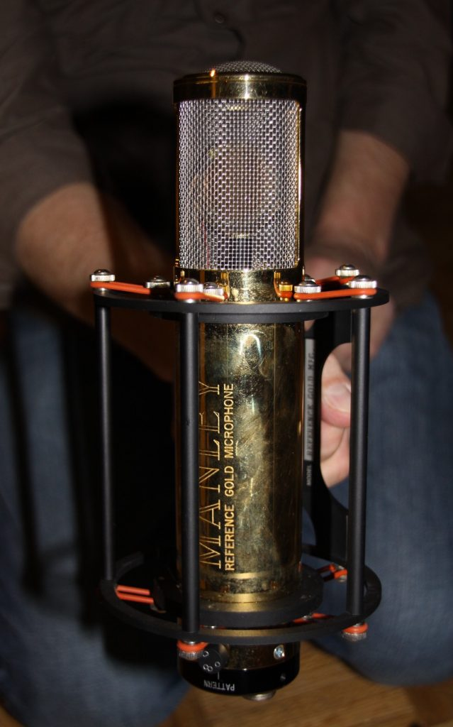 The Manley Reference Gold microphone.