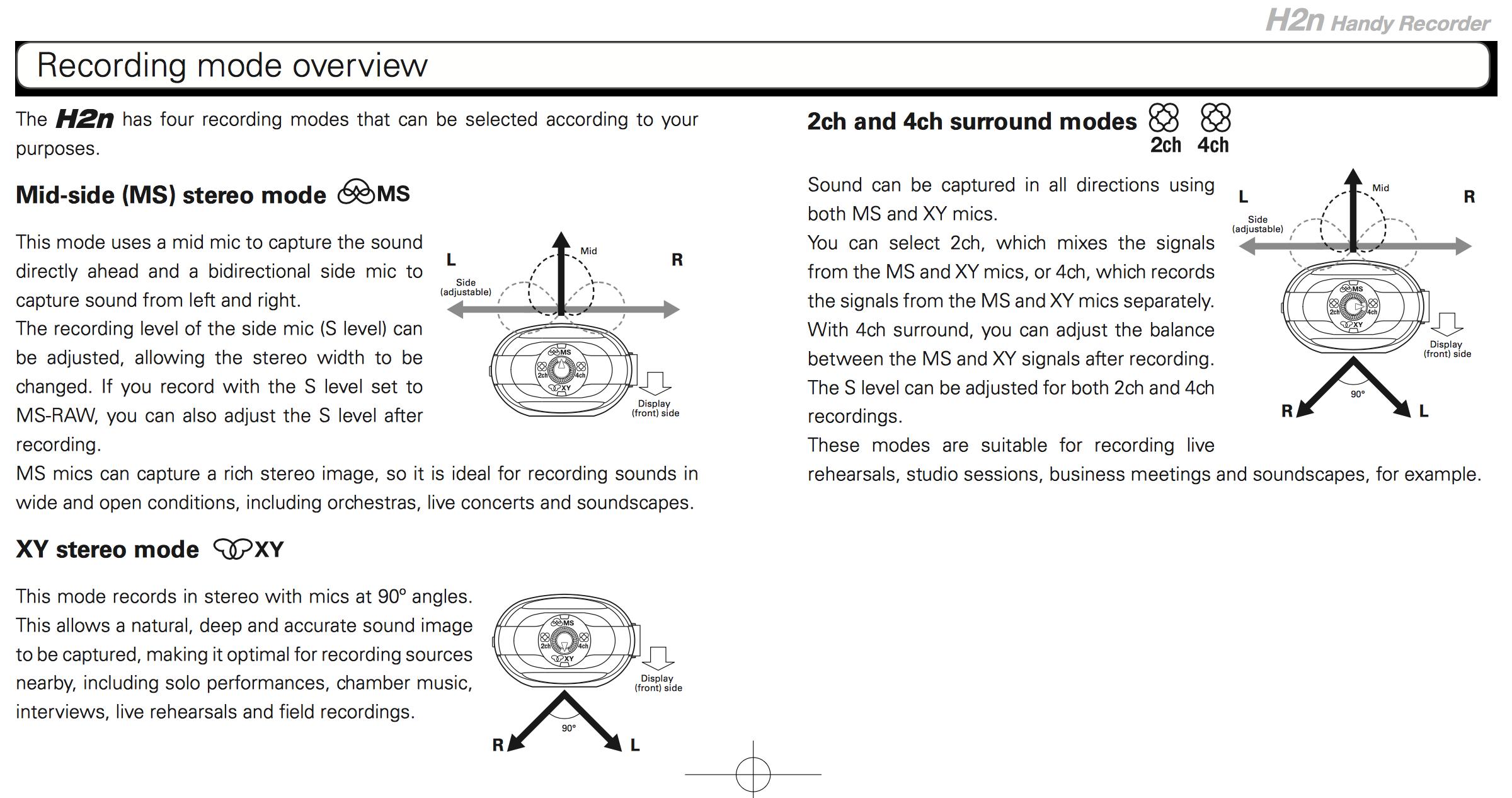 Zoom H2n Manual - Page 20