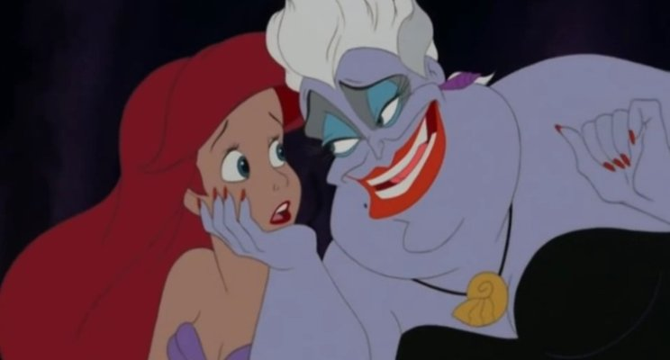 Ursula beguiles Ariel into surrendering her voice, and I make a pop culture reference.