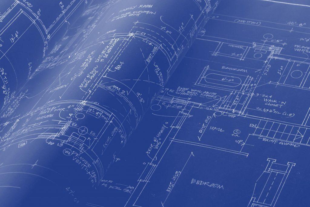 A blueprint schematic.