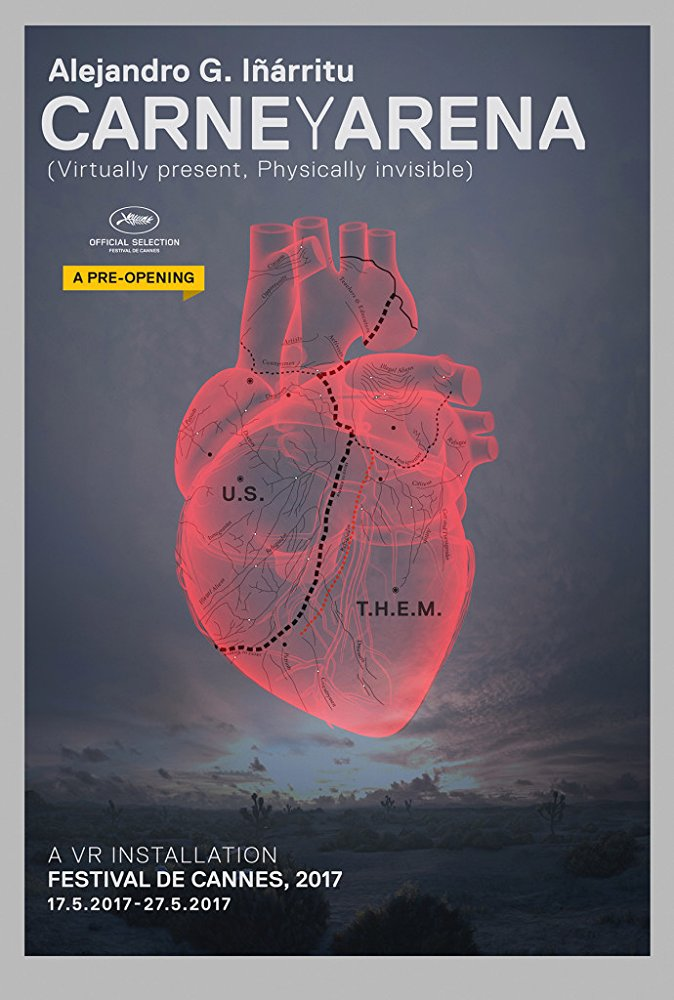 The poster for Alejandro González Iñárritu's virtual reality experience, Carne y Arena.