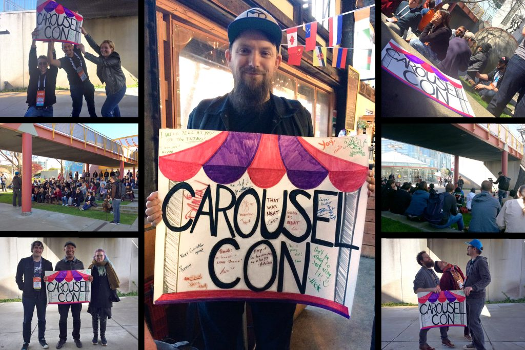 A collage of photos from CarouselCon 2017