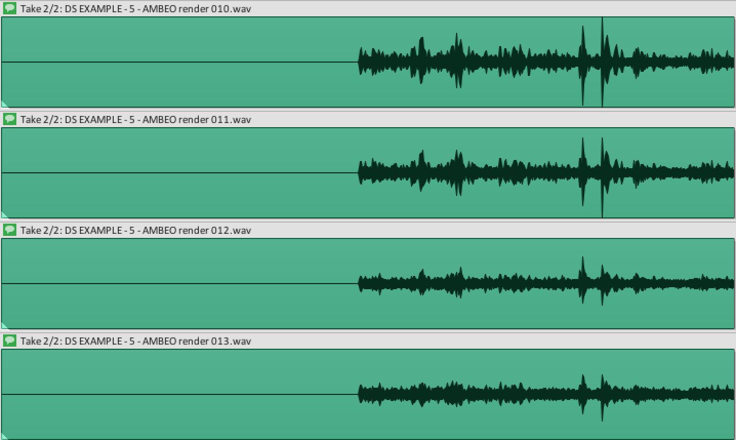 Reaper: Editing Ambisonics via iZotope RX 6
