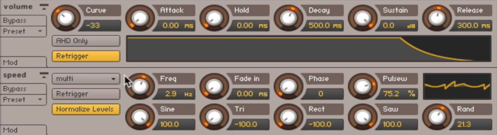 Modulation Parameters in Kontakt