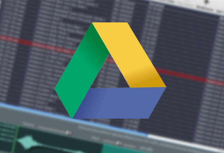 The Google Drive symbol on top of the Soundminer interface