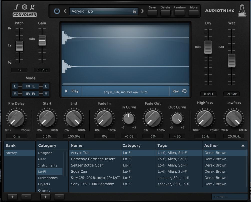 Using Convolution Reverb For Designing Lo-Fi Sounds