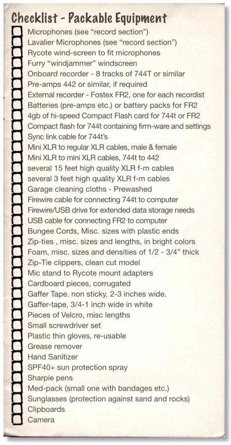 Check_List_Equipment