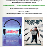 SECRETS FOR GREAT FILM SOUND – 6-part series and coaching program starts Oct. 1 + RAFFLE