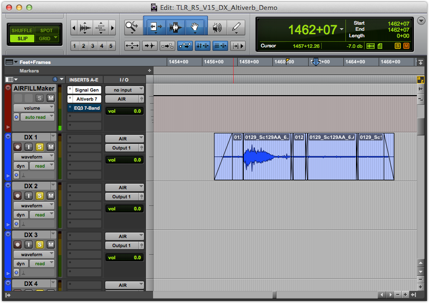 Dialog Session Setup for AIRFILL Recording