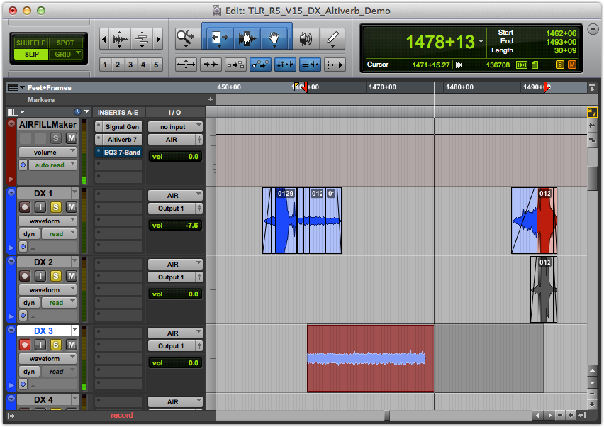 Recording AIRFILL into a Cut Dialog Track