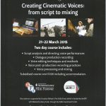 2-day workshop – Creating 'Cinematic Voices'