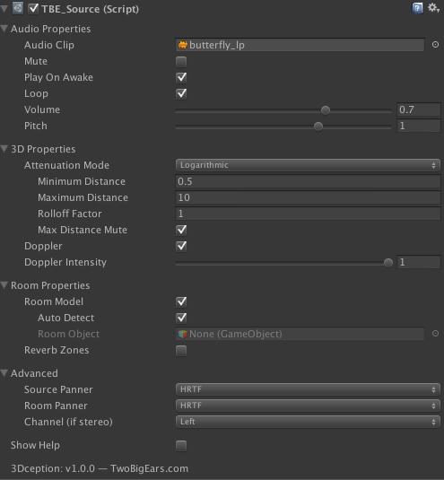 3Dception UI screenshot