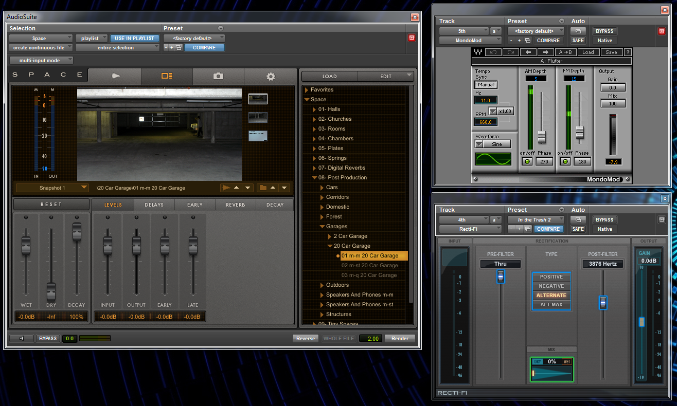 Plugins used to process the metal impact