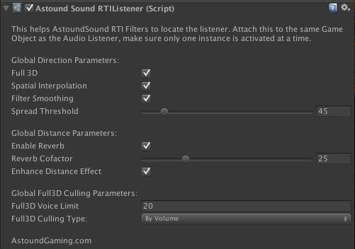 AstoundSound UI screenshot