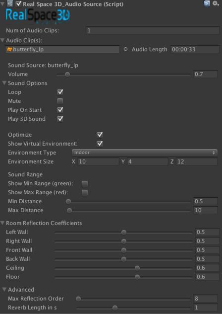 RealSpace 3D Audio UI screenshot