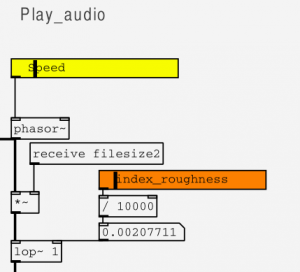 Control the speed of the index file playback