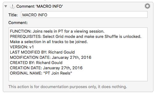 macro documentation