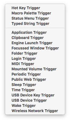 macro triggers