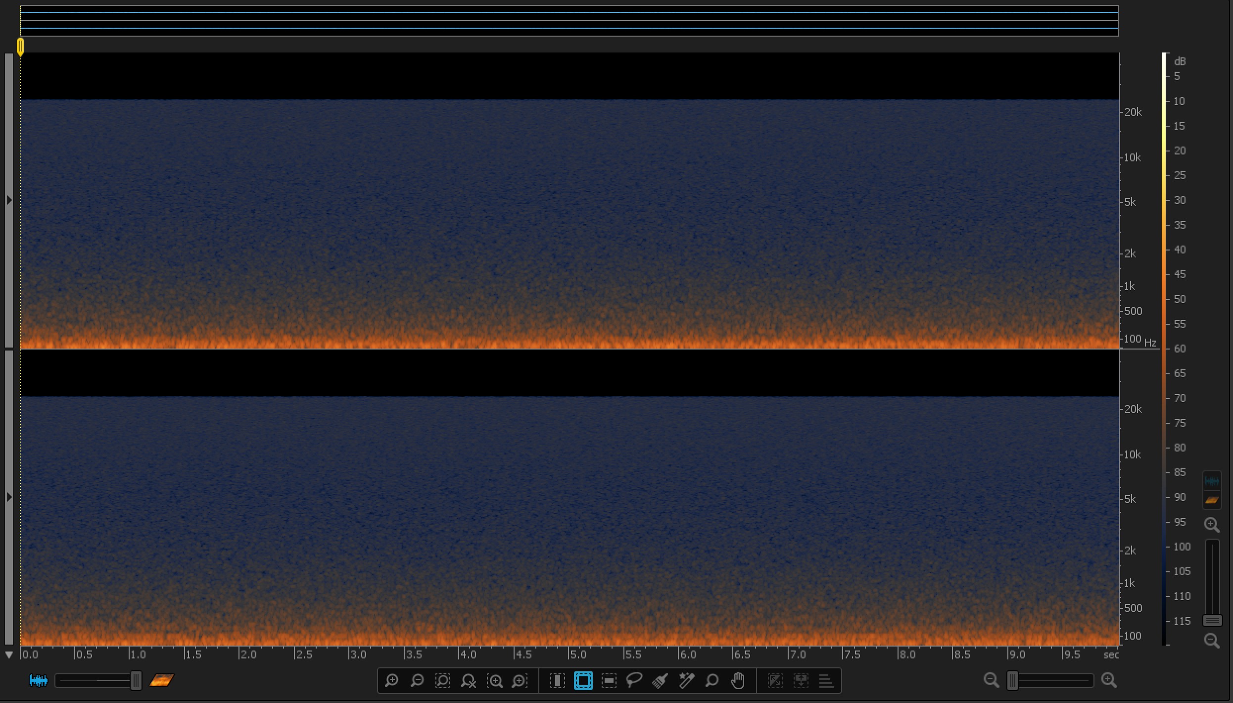 H6 Noise Spectrogram (Source: iZotope RX 4)
