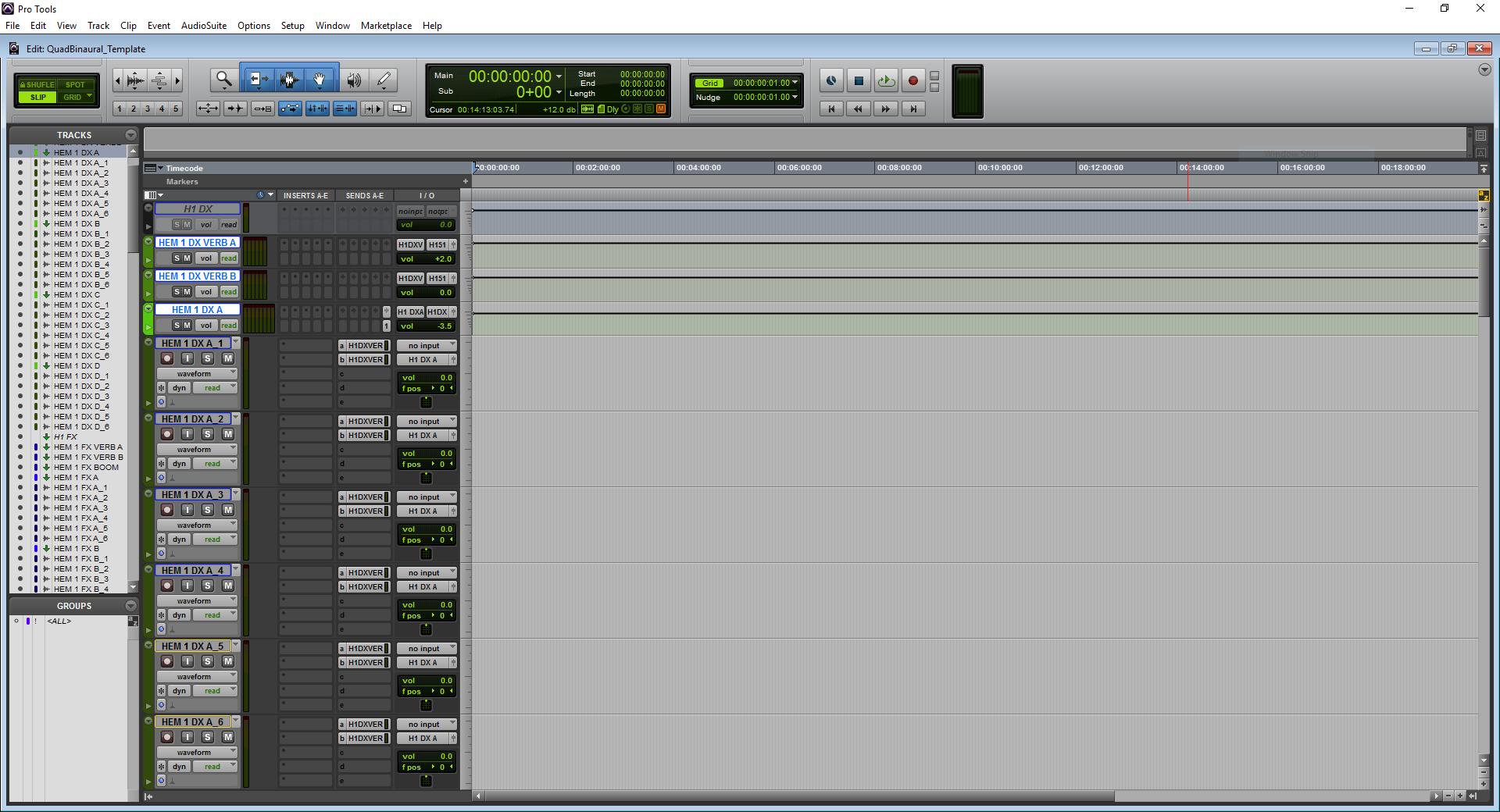 A screenshot of Pro Tools showing the dialog predub